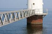 Footbridge to windmill — Stock Photo
