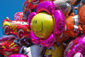 Colorful balloons wating for the kids at a party — Stock Photo