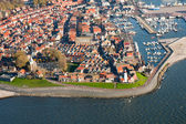 Aerial view of fishing village — Stock Photo