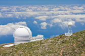 Telescopes at the highest peak of La Palma — 图库照片