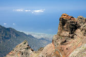 View from the highest peak at La Palma, Canary Islands — Stock Photo