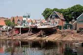 Old Dutch shipyard with tugboats — Stock Photo