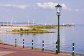 Waterfront in the Netherlands — Stock Photo