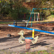 Dutch playground in the woods — Stock Photo
