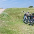 Two bicycles parked in the dunes in Netherlands. — Stock Photo #8226284