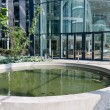 Atrium with pool in a big modern building — Стоковая фотография