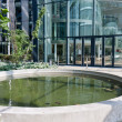 Atrium with pool in big modern building — Stok Fotoğraf #8226293