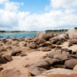 Ebb tide in bay at rocky coast of Brittany, France — Stock Photo #8226329