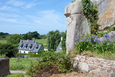 Cottage at the island of lle de Brehat, Brittany, France — Stock Photo