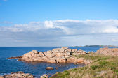 Famous granite rocks in Brittany, France — Stock Photo