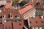 Aerial view of houses in Praha, Czech Republic — Stock Photo