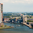 Skyline of Rotterdam, second city of the Netherlands — Stock Photo #8400215