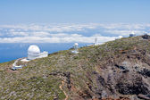 Telescopes above the clouds at the highest peak of La Palma, Can — Stock Photo