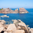 Beautiful coast of Brittany with big rocks — Stock Photo