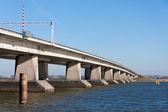 Big concrete bridge in the Netherlands — Stock Photo