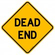 Dead End Sign — Stok Vektör