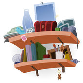 Shelf full of Stuff — Stock Vector