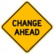 Change Ahead Yellow Sign — Stockvectorbeeld