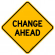 Stock vektor: Change Ahead Yellow Sign