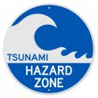 Stock Vector: Tsunami Hazard Zone