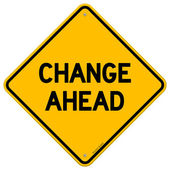 Mudar o sinal amarelo à frente — Vetorial Stock