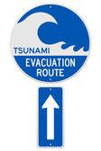 Tsunami Evacuation Route — Stock Vector