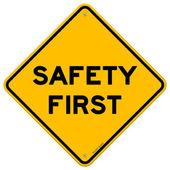 Erste sicherheitssymbol — Stockvektor