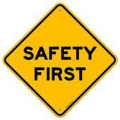 Safety First Symbol — Vettoriale Stock