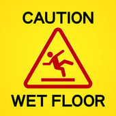 Caution Wet Floor — Stock Vector