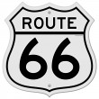 Stock Vector: Route 66 Sign