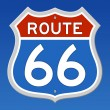 Route 66 Road Sign — Vettoriali Stock