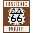 Royalty-Free Stock Vector Image: Historic Route 66 Sign