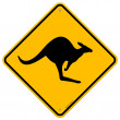 Kangaroo Sign — Stock Vector #8029508