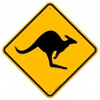 Stock Vector: Kangaroo Sign