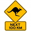 Kangaroos Next 100 km — Stock Vector #8029526