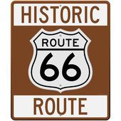 Historic Route 66 Sign — Stock Vector