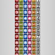 Rotating Numbers in various colors — Stockvektor #8393019