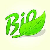 зеленые био этикетка — Cтоковый вектор