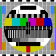 Stock Vector: PAL TV test signal