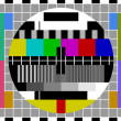 PAL TV test signal - Stockvectorbeeld