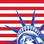 cara de estatua de la libertad — Vector de stock