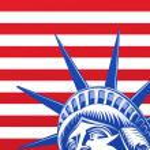 Liberty standbeeld gezicht — Stockvector