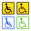 Disabled Wheelchair Sign — Stock Vector #9070324