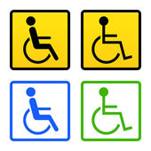 Disabled Wheelchair Sign — Stock Vector