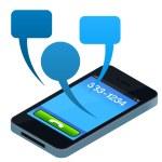 Social Mobile Phone — Stock Vector
