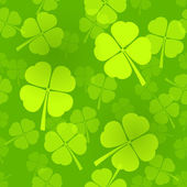 Four-Leaf Clover Pattern — Vector de stock