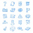 Blue web icons — Stock Vector #9525296