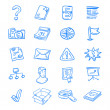 Stock Vector: Blue web icons
