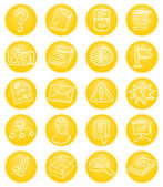 Yellow CMS icons — Stock Vector