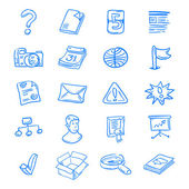 Blue web icons — Stock Vector